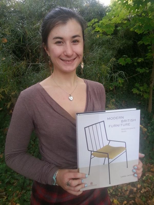 Rebecca Hodges receives her award