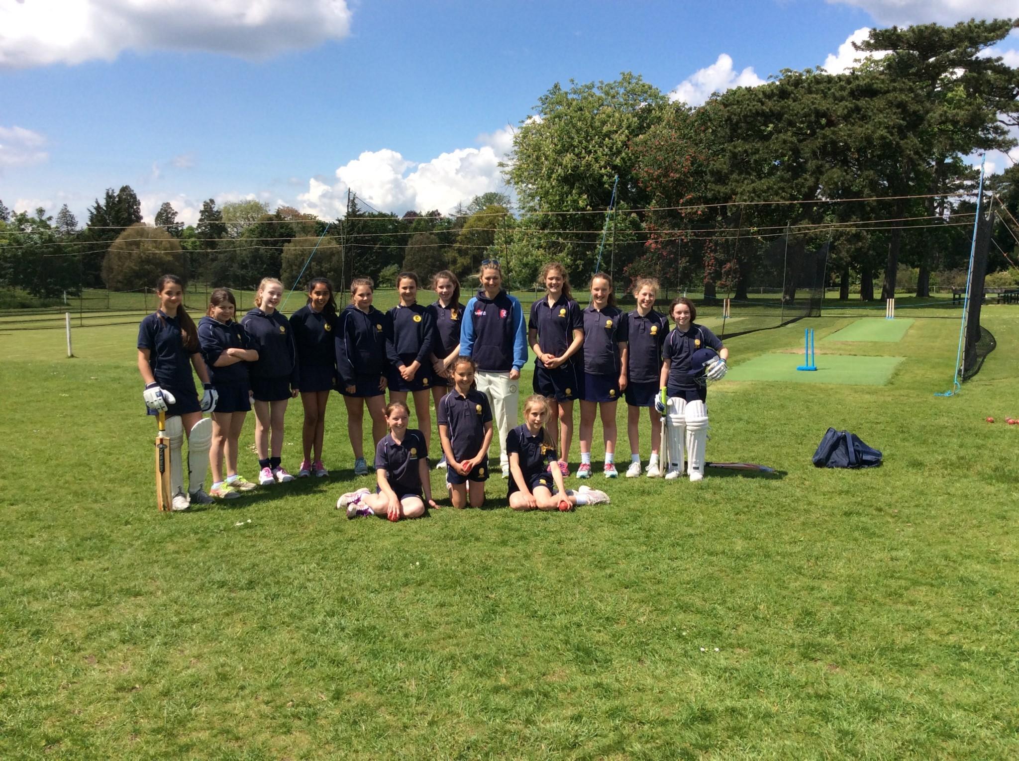 Girls enjoyed some coaching from former England Captain, Charlotte Edwards.