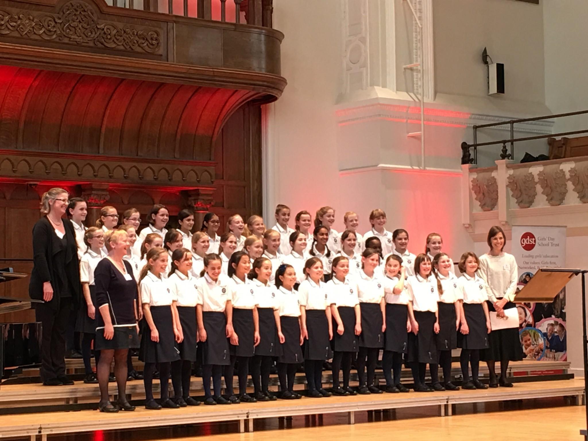 OHS Junior chamber Choir at the GDST choir 2017 3