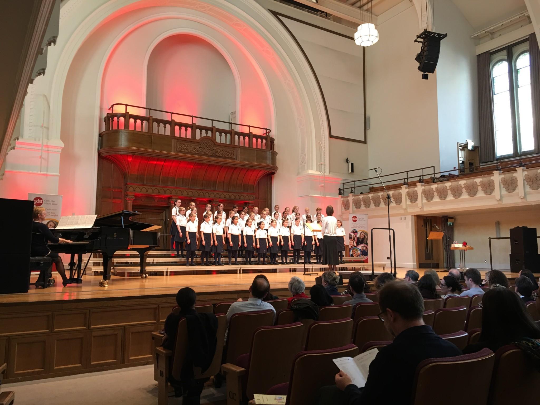 OHS Junior chamber Choir at the GDST choir 2017