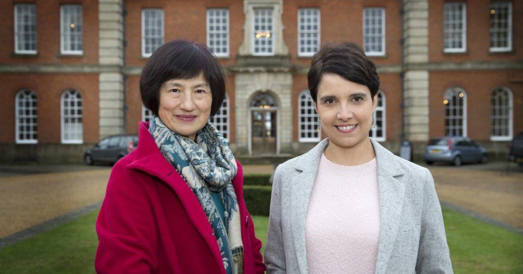 Dr Yan Liu, Head of Mandarin at OHS and Gabriela Porter, Head of Languages at Radley college
