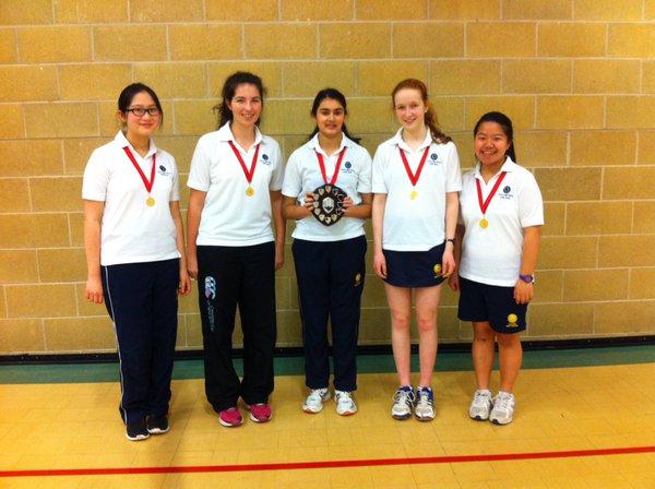 The U16 Badminton team at OHS